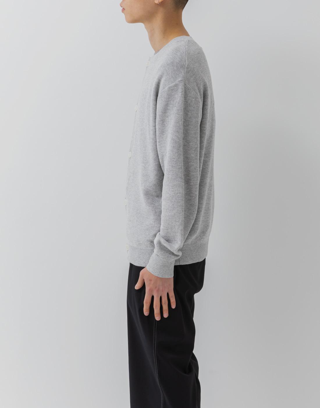에이트디비젼(8DIVISION) Round Cardigan (Grey)