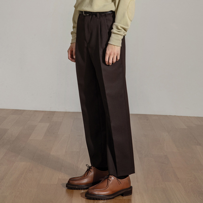 Standard Fit Wool Pants(Chestnut brown)