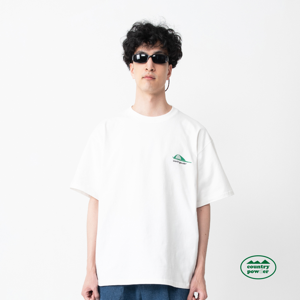 OVER FIT GRAPHIC T SHIRTS (WHITE)