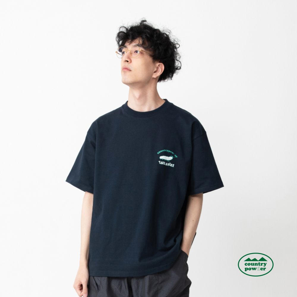 OVER FIT GRAPHIC T SHIRTS (NAVY)