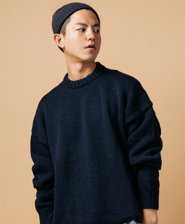 OVERSIZED SWEATER NAVY BLUE