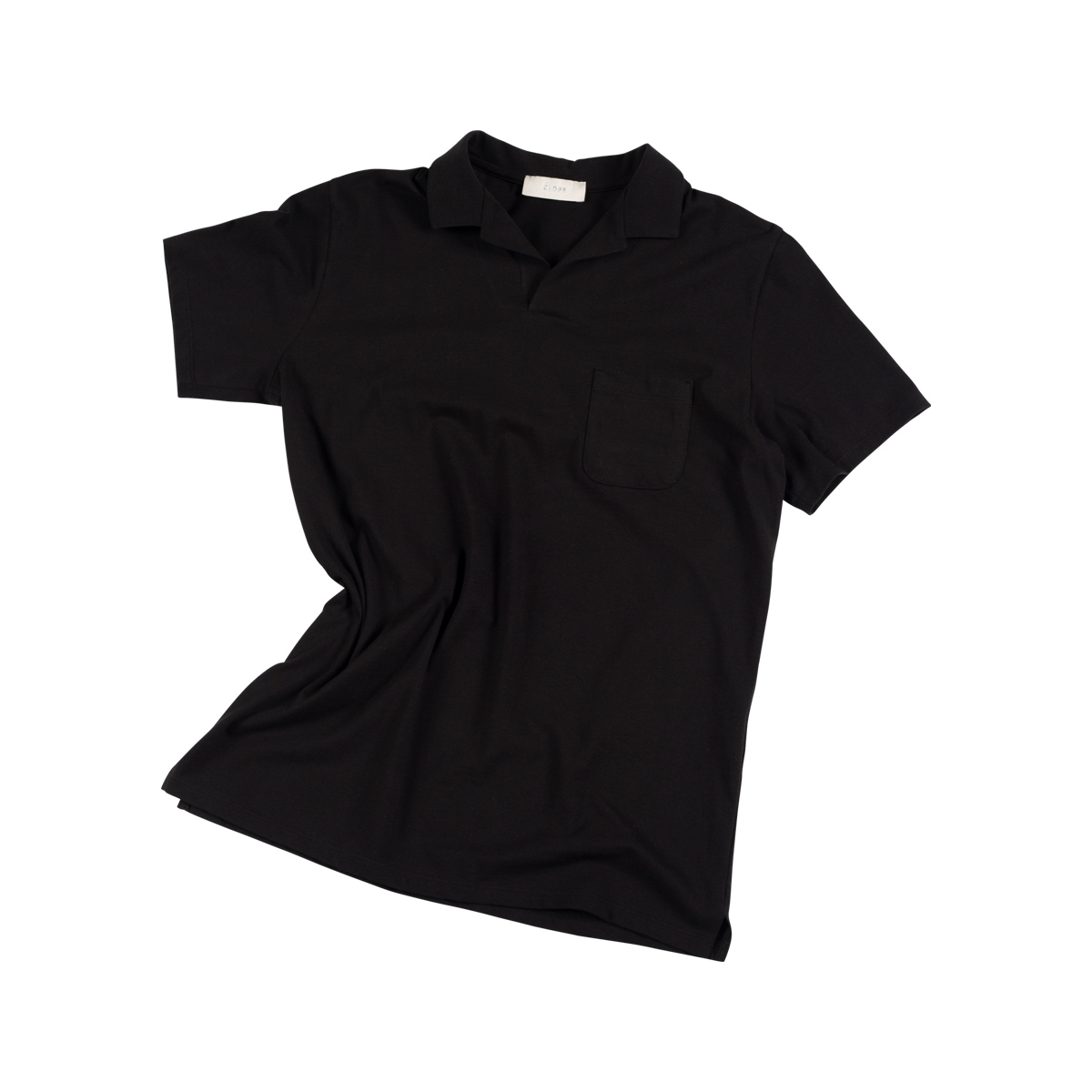 Gentle Open Collar Polo shirts - Black