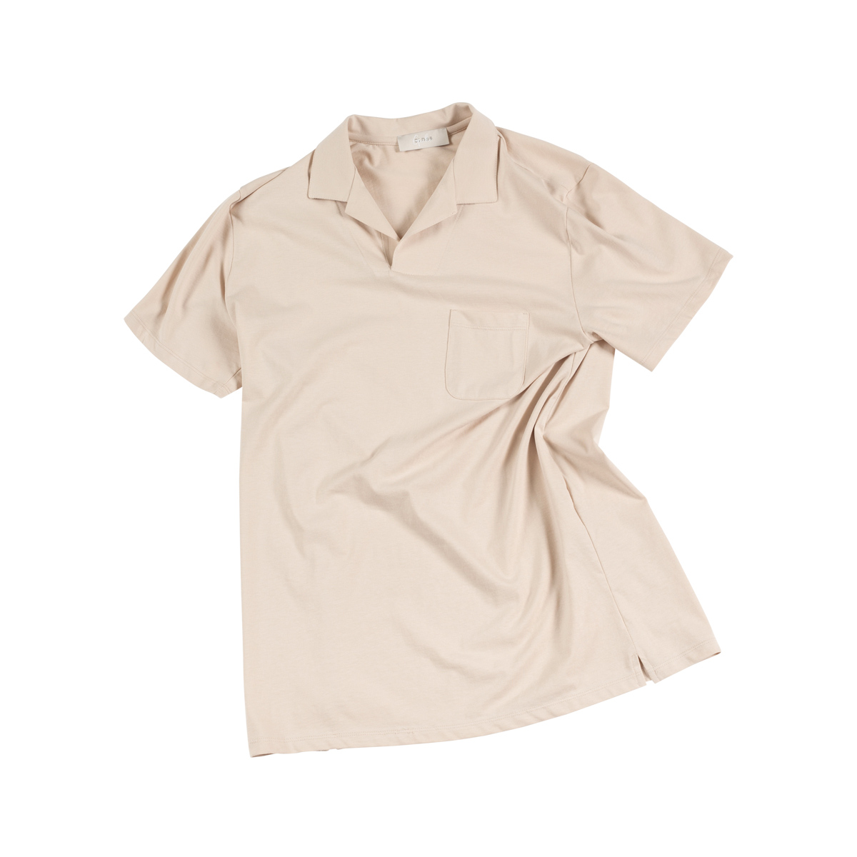 Gentle Open Collar Polo shirts - Beige