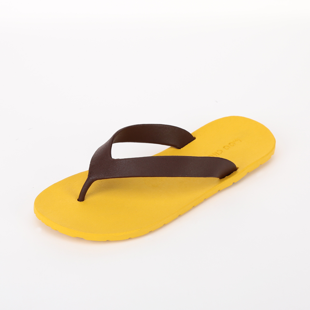 MC01 Flipflop, Yellow-Chocolate