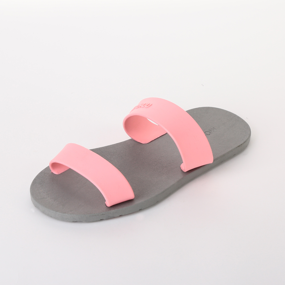 MC03 Two Straps, Gray-Light Pink