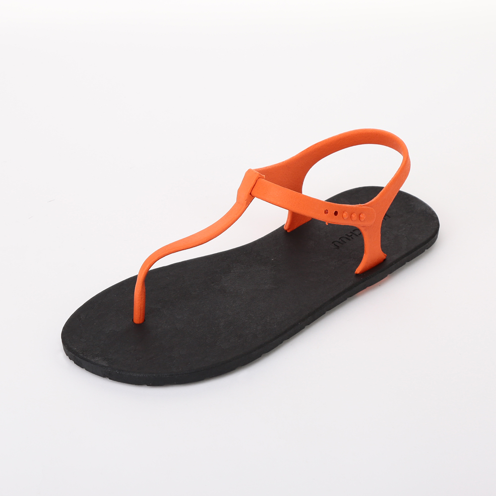 MC04 Sandal, Black-Orange