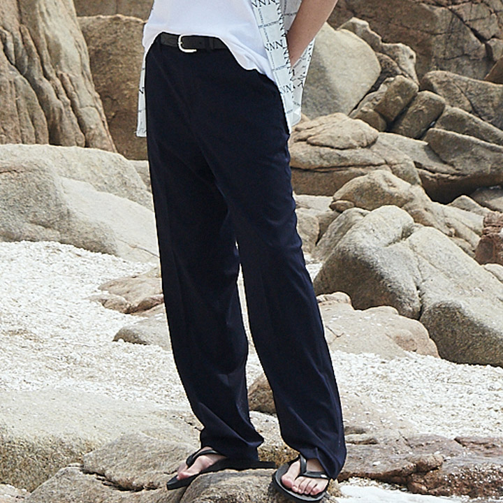 UNISEX LONG WIDE SLACKS NAVY