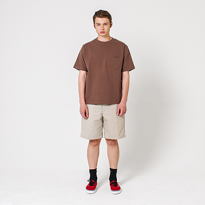 Pocket T-shirt Brown