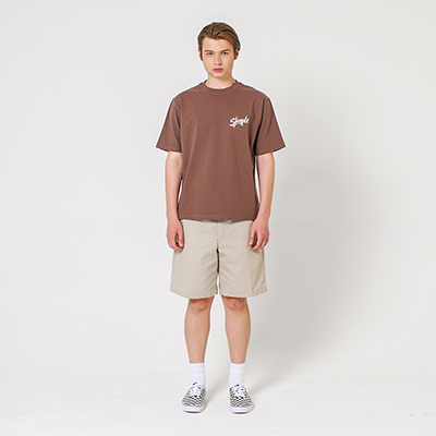 Simple Authentic T-shirt Brown