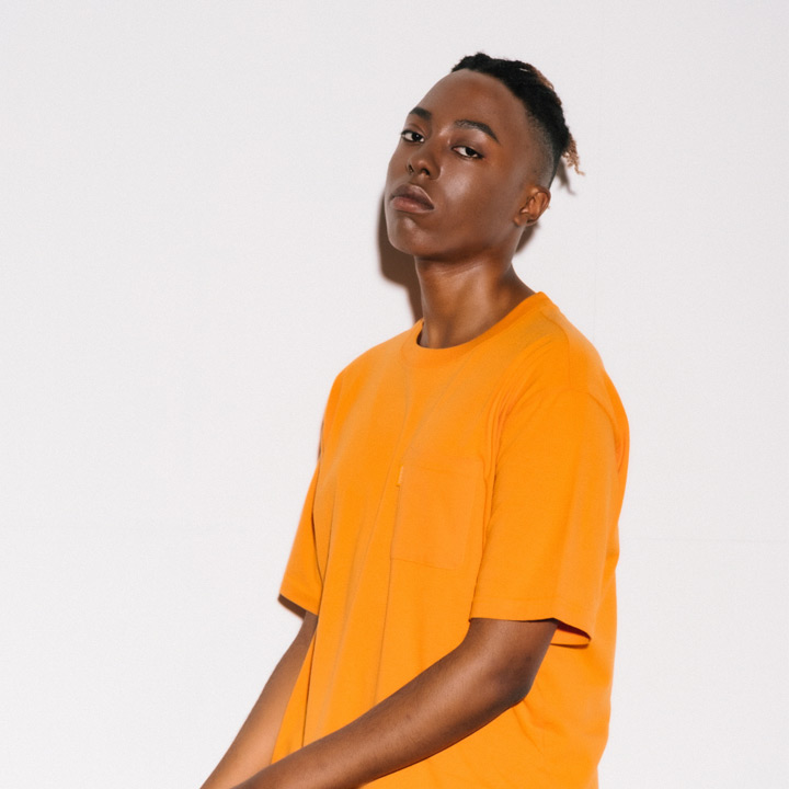 [VJ3TS006A]SIMPLE POCKET CB TEE ORANGE