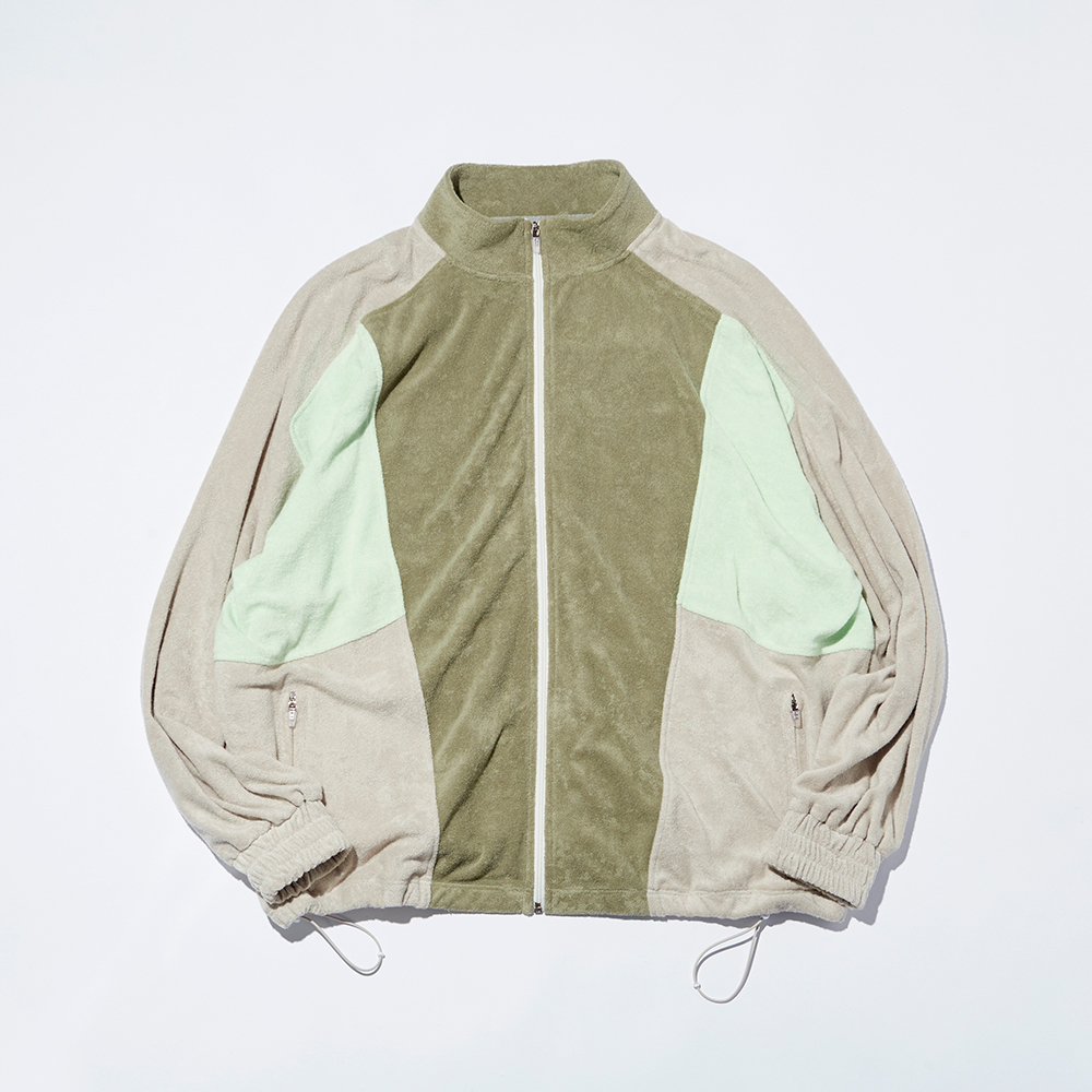 NAP COTTON FLOWING TRACK JACKET_MINT