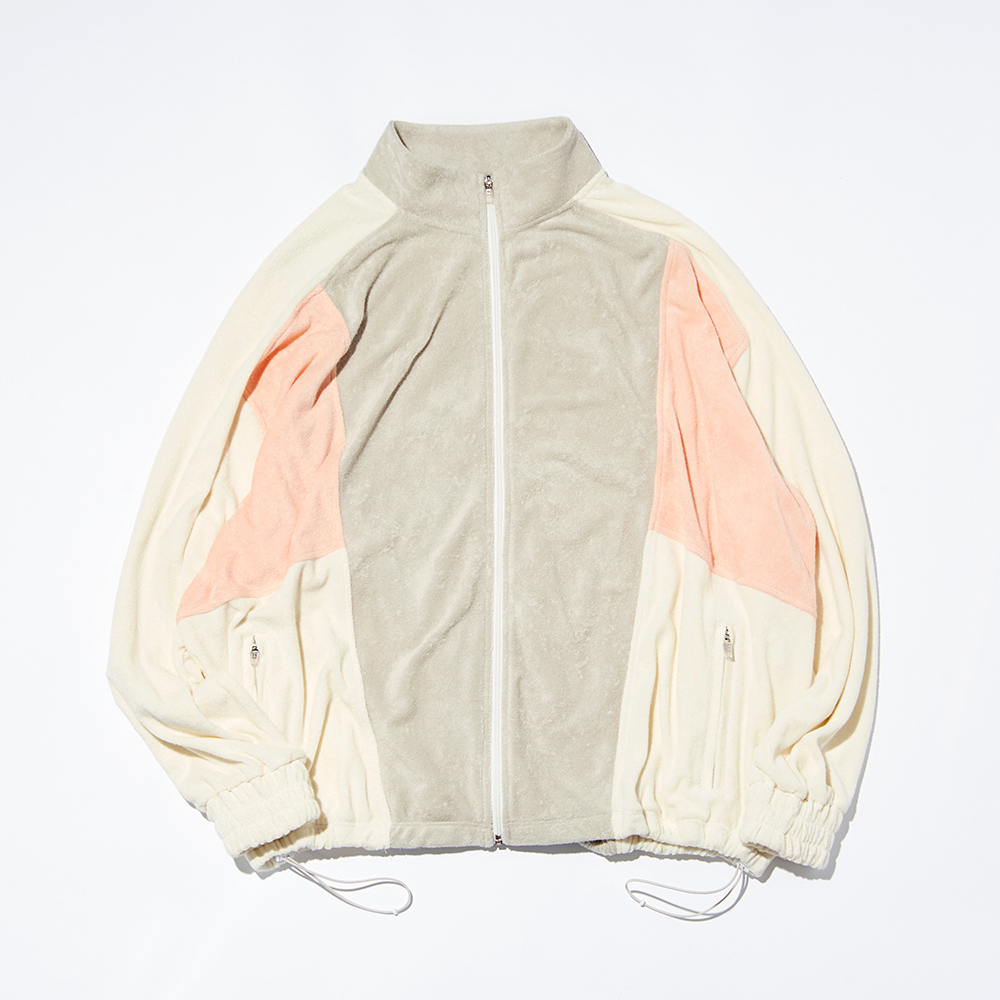NAP COTTON FLOWING TRACK JACKET_PINK