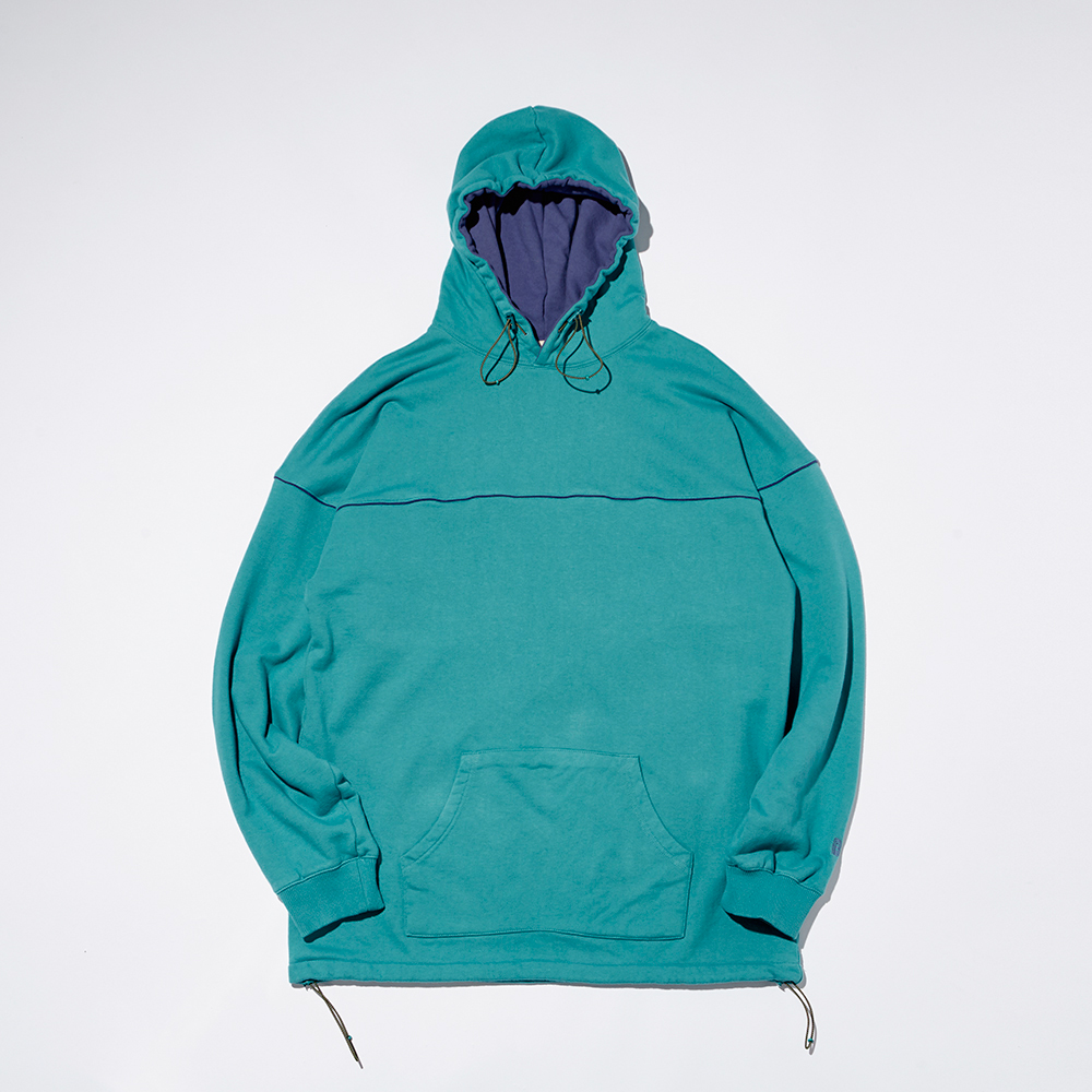 REVERSAL STRING HOODY_TROPICAL GREEN