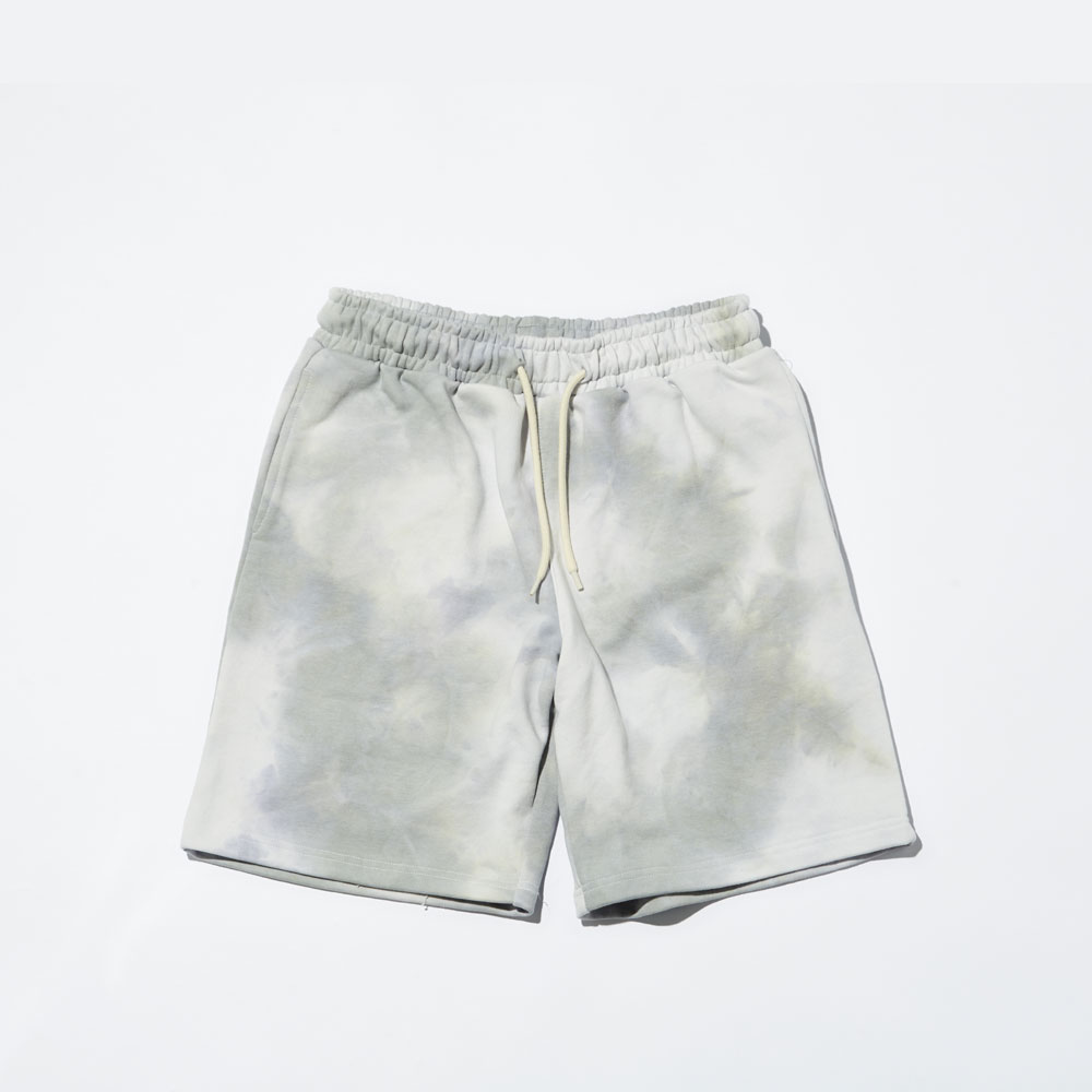 MY TIE DYE SHORTS _LIGHT GRAY