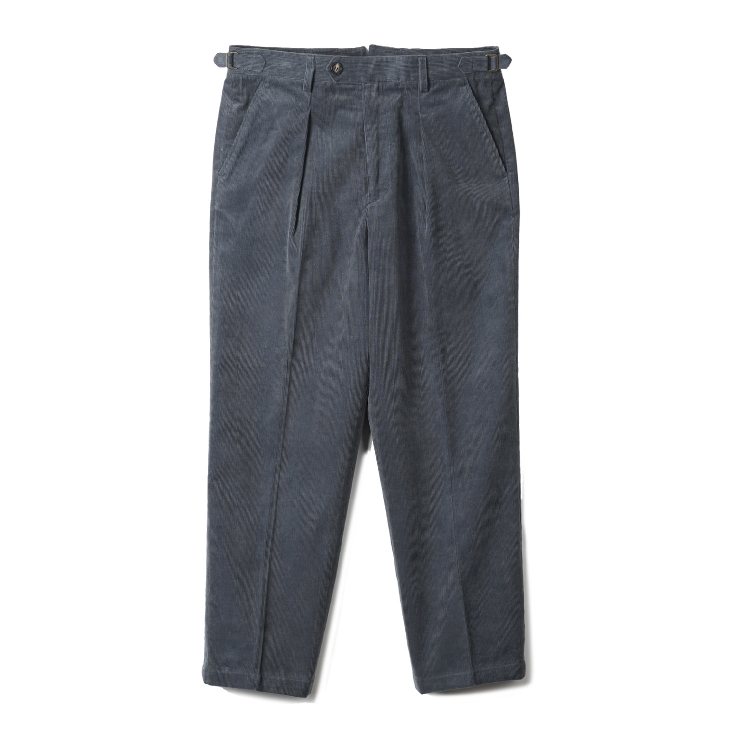 TJA Corduroy One-tuck Pants - Bluegrey