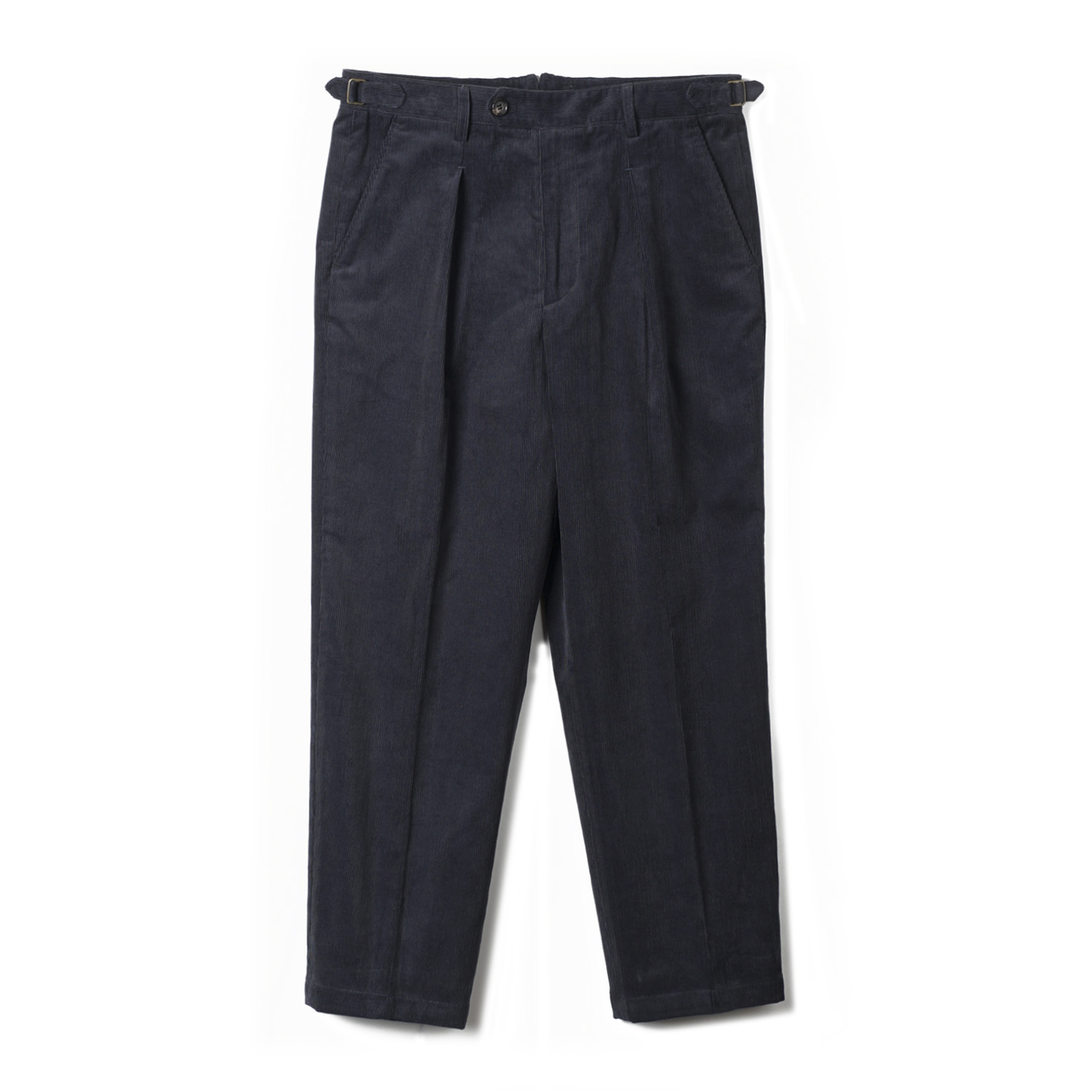 TJA Corduroy One-tuck Pants - Navy