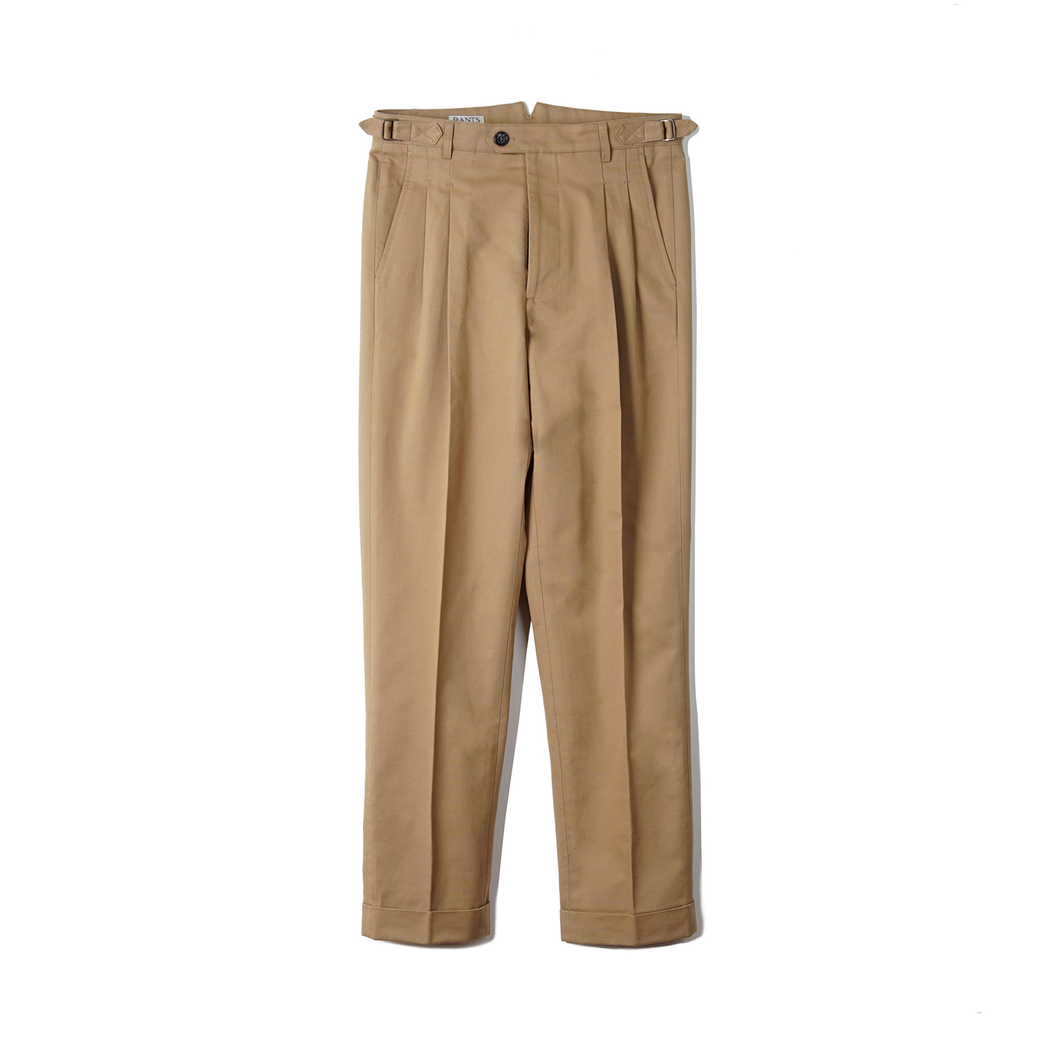 BTS Cotton Two-tuck Pants - Khaki