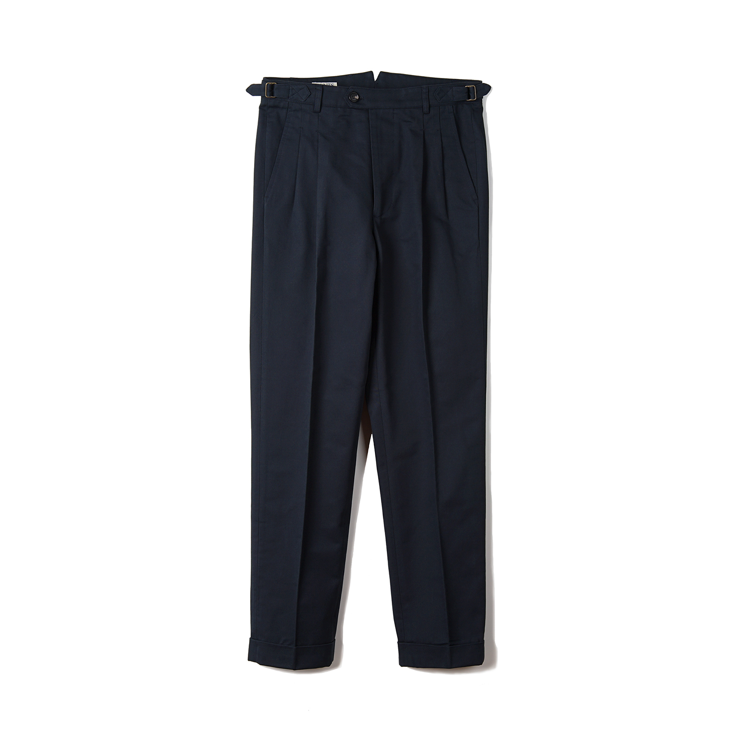 BTS Cotton Two-tuck Pants - Navy