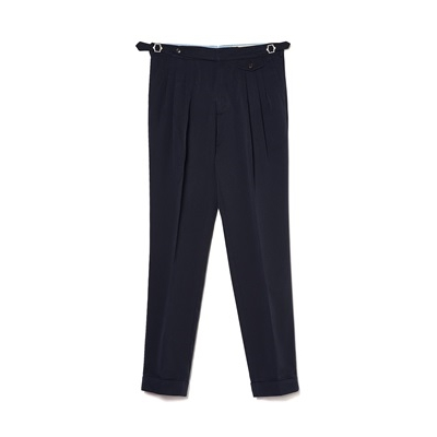 TR 3 PLEATS PANTS - NAVY