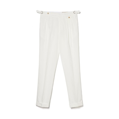 TR 3 PLEATS PANTS - CREAM