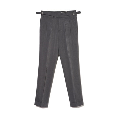 TR 3 PLEATS GURKHA PANTS - GRAY