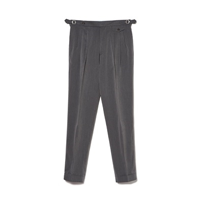 TR 3 PLEATS PANTS - GRAY