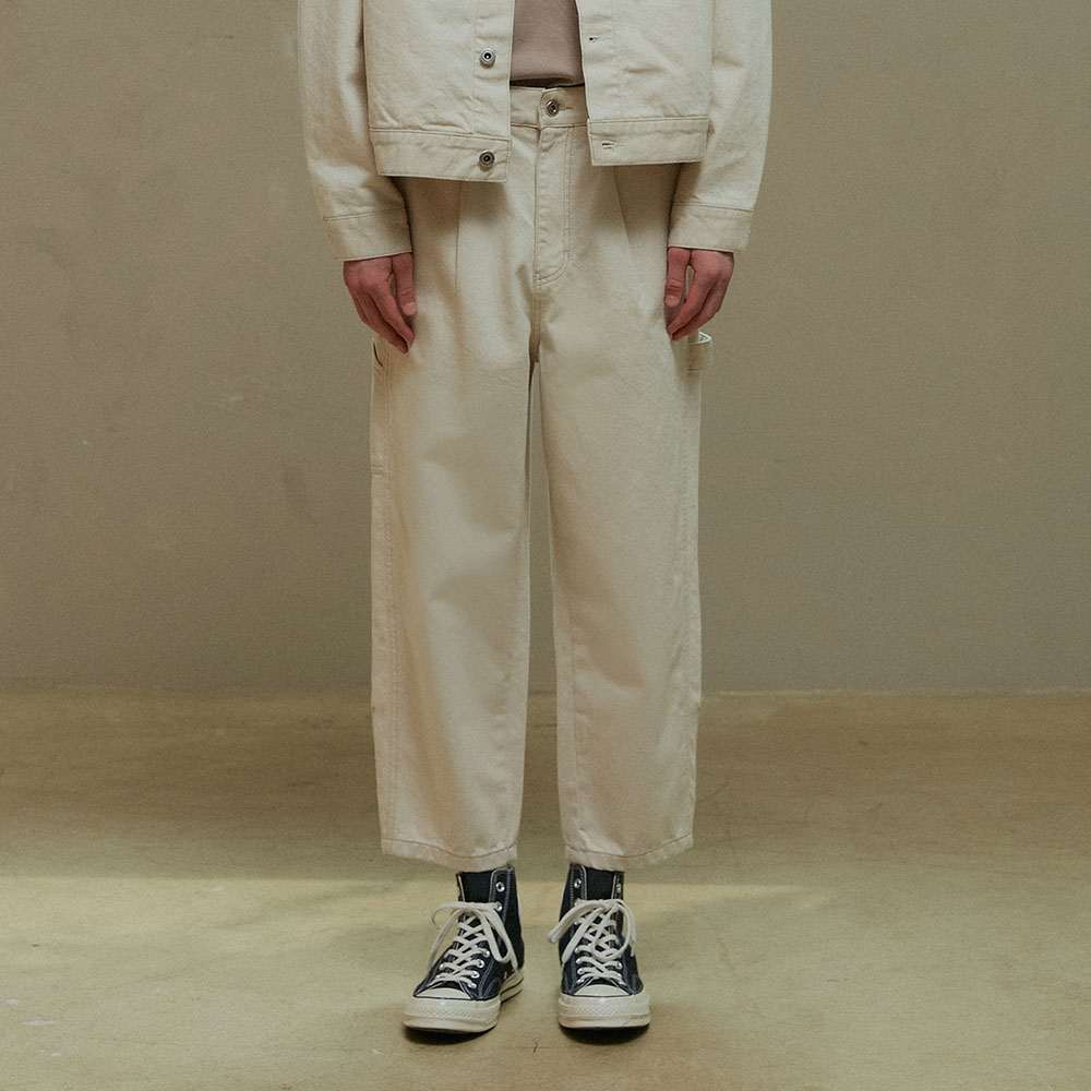 CREAM CAPENTER PANTS (TC1PTVF0804)