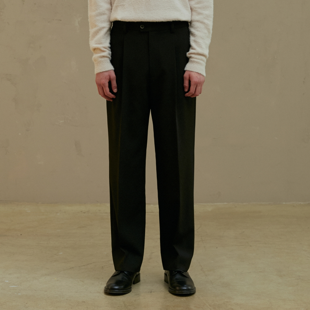 [09월17일 순차배송] BLACK WIDE TROUSERS (TC1PTVF0802)