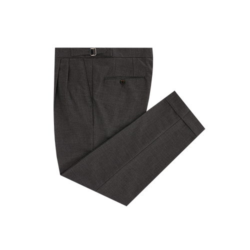 Grey two tuck adjust trousers (Grey)