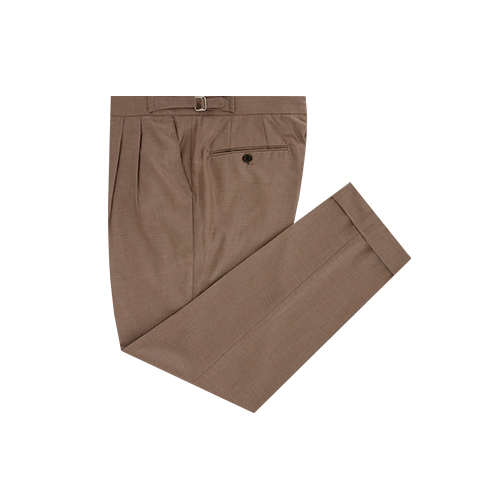 beige two tuck adjust trousers (beige)