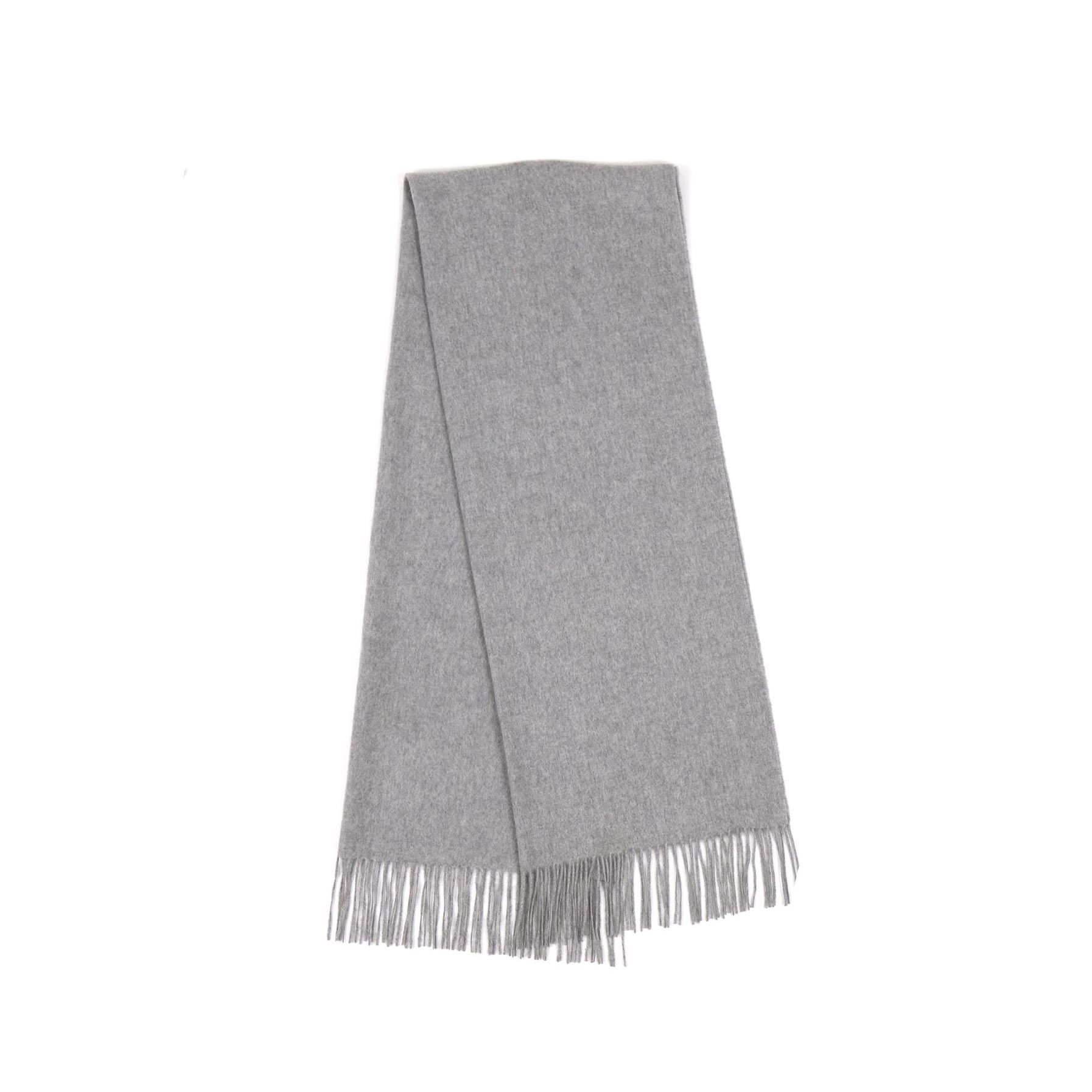 [10월 01일 순차배송] 100% Cashmere Modern Muffler (Light Grey)