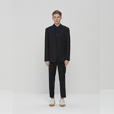 Pick Stitched Suit Pants Black