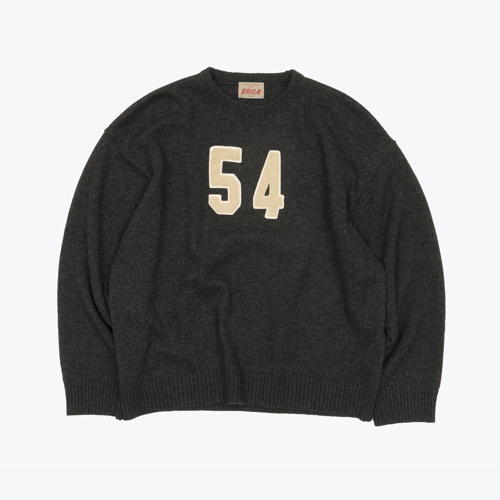 54 LAMBSWOOL SWEATER (CHARCOAL)