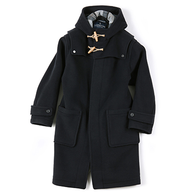 DETACHABLE DUFFLE COAT (DARK NAVY)