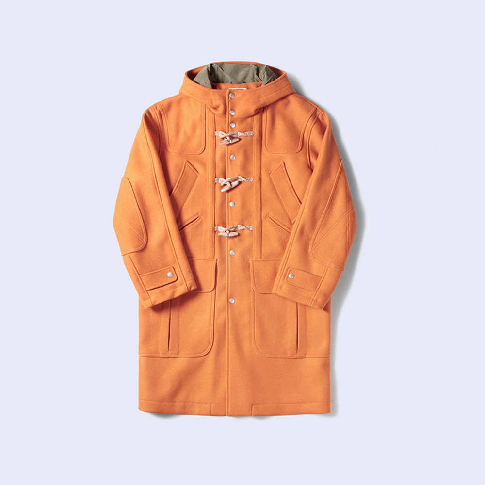 MIX POCKET DUFFLE COAT ORANGE