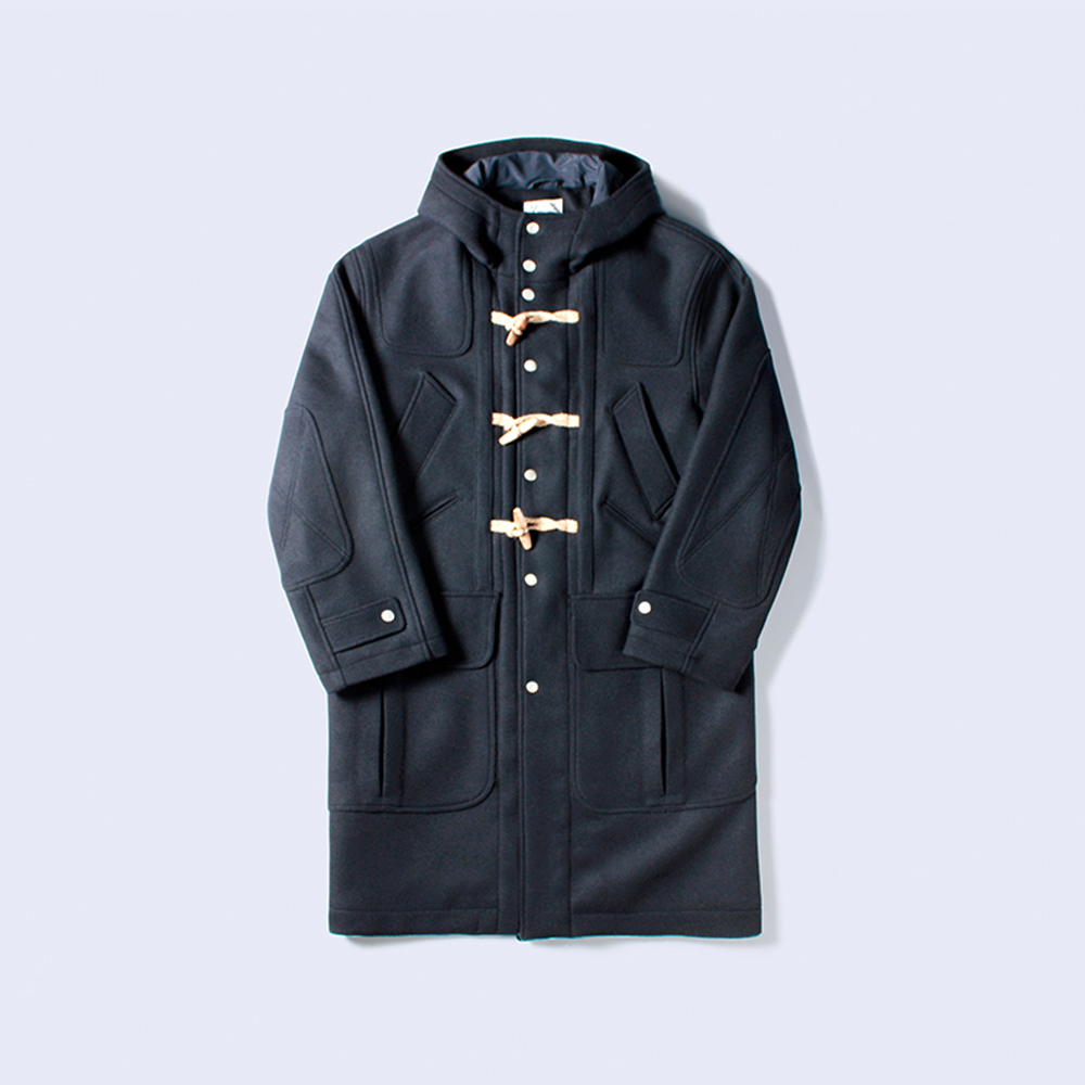 MIX POCKET DUFFLE COAT NAVY