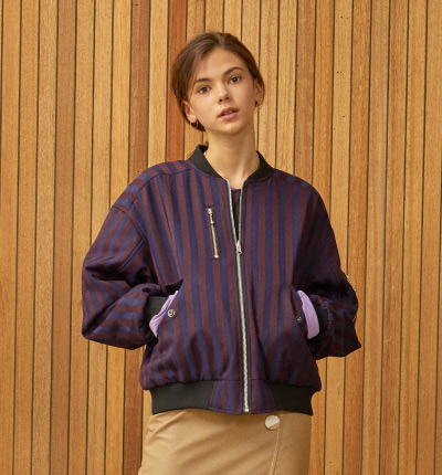 <br/>stripe reversible ma-1 Purple/G