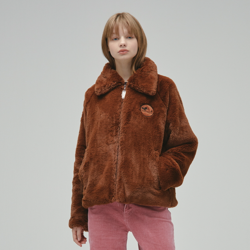 [FW19 T&J] Faux Fur Jacket(Brown)