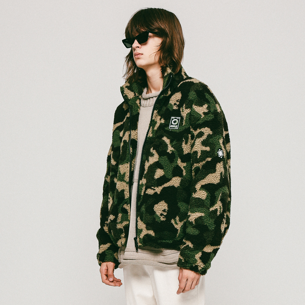 UNISEX PATTERN DUMBLE JACKET KHAKI