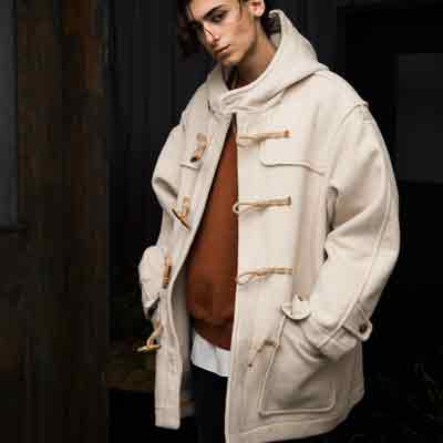 ALPACA WOOL DUFFLE COAT(CREAM)