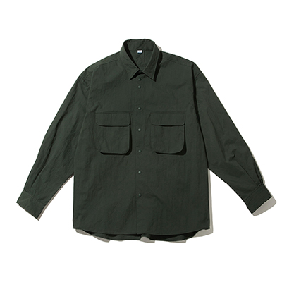 RUSTLE WIDE SHIRT OLIVE
