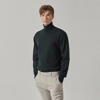 BB. SOFT TURTLE NECK KNIT_GREEN