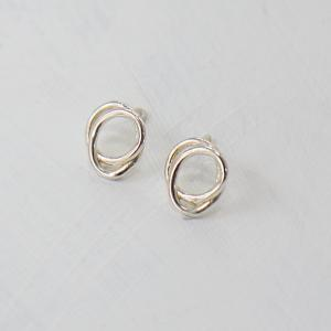 Planet silver earring [Ie98 Silver]