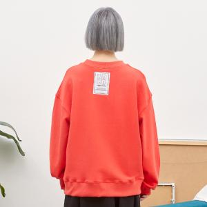 PATCHED SWEAT SHIRT_CHERRY RED