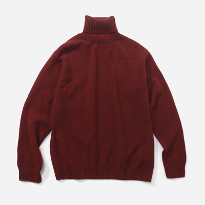 LAMBSWOOL ROLL NECK KNIT SIENNA