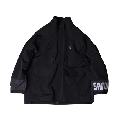 PACKABLE CAMPING JACKET BLACK/CHARCOAL