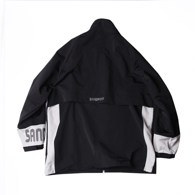 PACKABLE CAMPING JACKET BLACK/IVORY