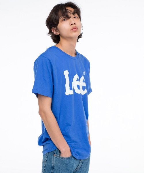 [LEE] 빅 로고 반팔티 BIG LOGO HALF TEE-BLUE PURPLE/WHITE
