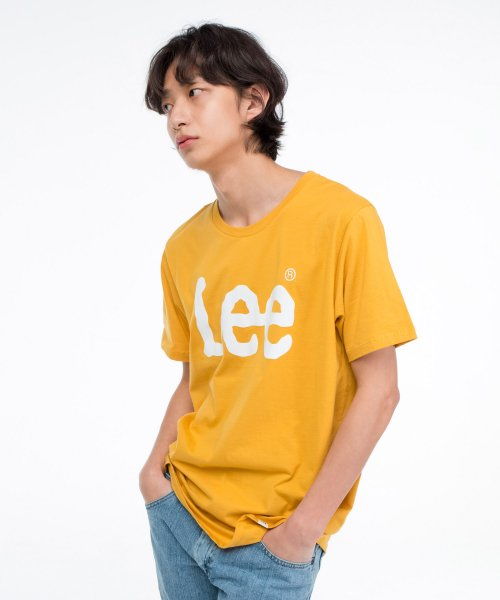 [LEE] 빅 로고 반팔티 BIG LOGO HALF TEE-ORANGE/WHITE