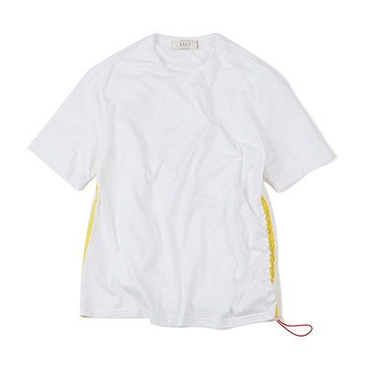 SIDE LINE STRING T-SHIRT (WHITE)